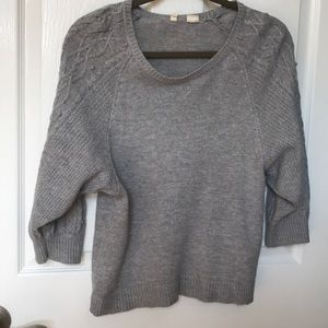 Moth gray relaxed sweater